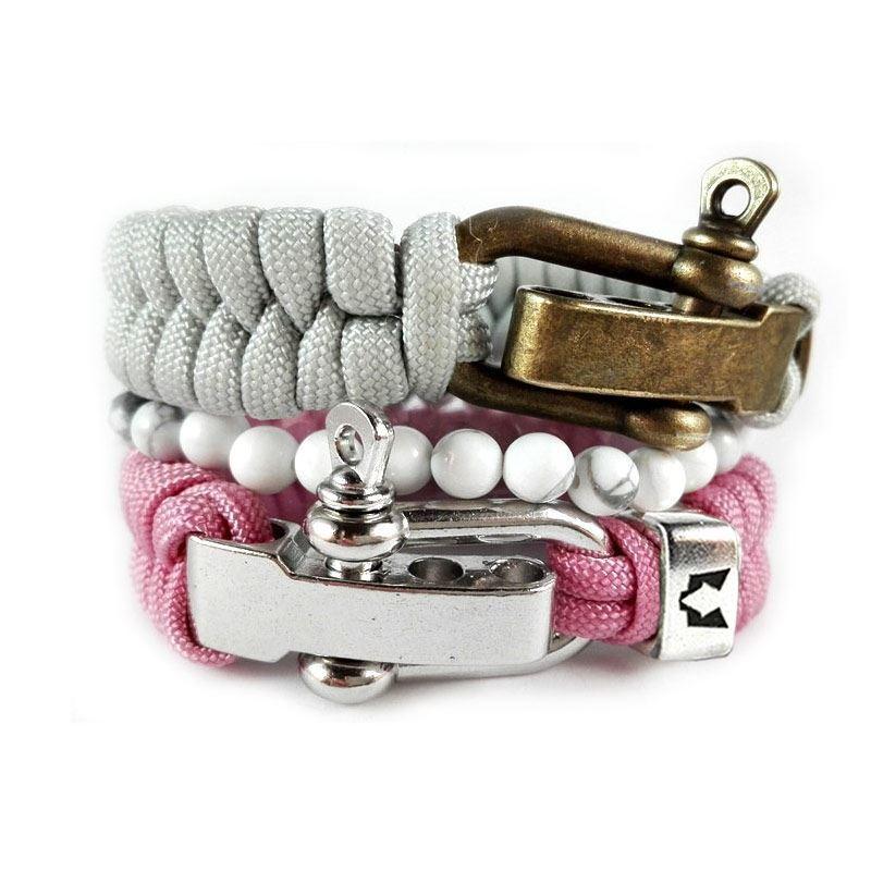 Bild von Bracelet set | Silver Pink