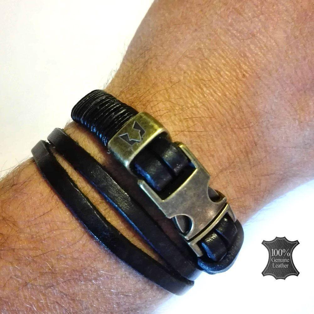 Afbeelding van Wolfs belt | Black leather