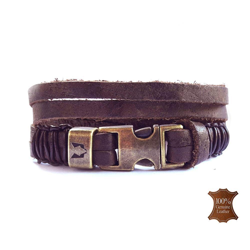 Afbeelding van Wolfs belt | Dark Brown leather