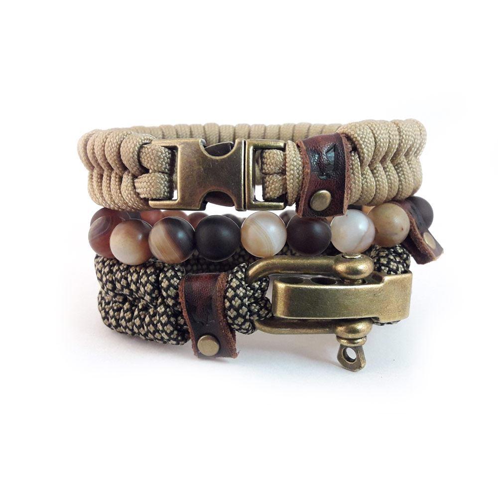 Afbeelding van Bracelet set | RVS Urban leather