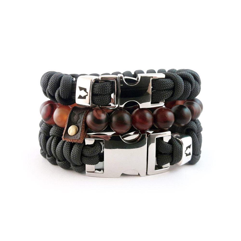 Afbeelding van Bracelet set | Grey Steel