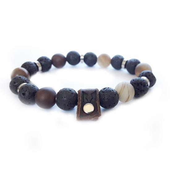 Afbeelding van Stone beads   Earth rule silver 10mm