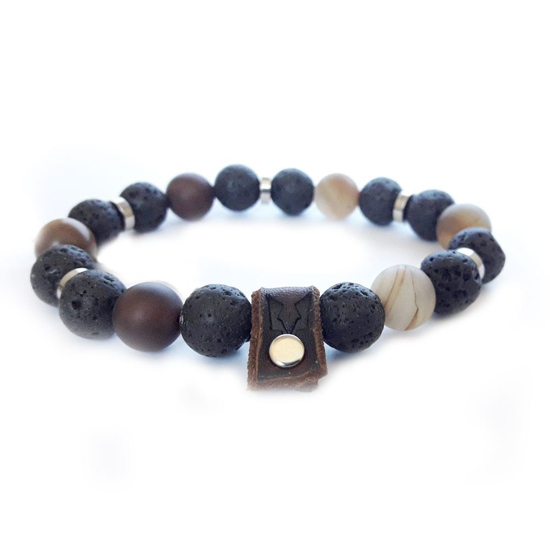 Bild von Stone beads | Earth rule silver 10mm