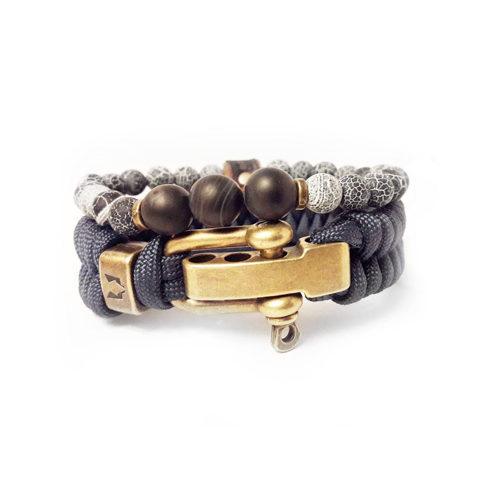 Afbeelding van Bracelet set | Black eye blue