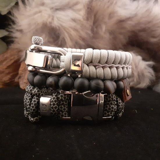 Afbeelding van Bracelet set | Wolf's dusk