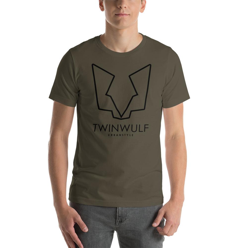 Afbeelding van Twinwulf Outlines unisex shirt Army green