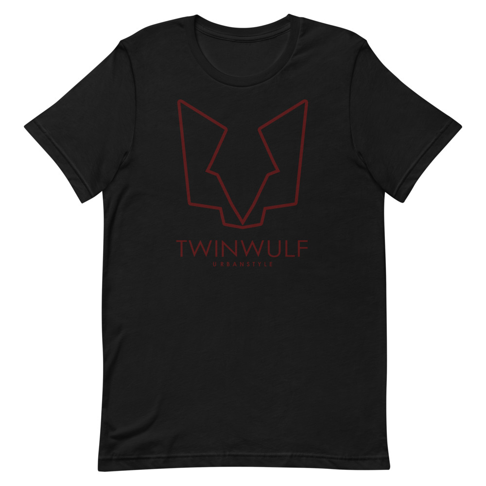 Afbeelding van Twinwulf Outlines unisex shirt Black red