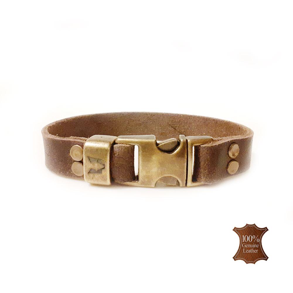 Afbeelding van Wolfs belt | Cubs Brown leather